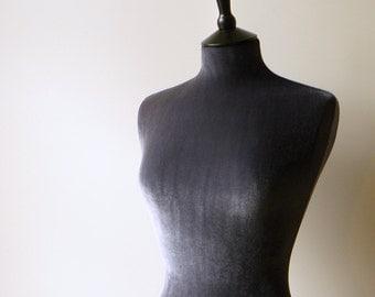 Mannequin Slip on Cover Luxury Velvet Dressform COVER ONLY - Grey