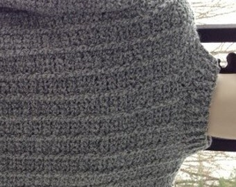 Sweaters,  Man's Sweater, XXL,Men's Fashions, Men's Clothing, Gray, Crochet