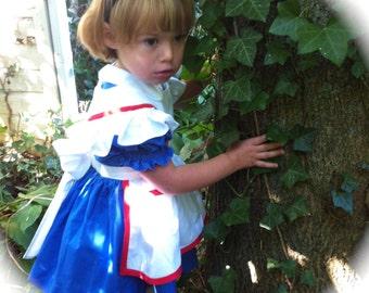 Alice in Wonderland Custom Dress Size 3