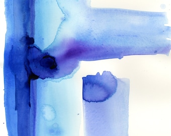 Meditations ... No.39 in Series ... Original Abstract water media painting by Kathy Morton Stanion EBSQ