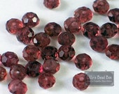 Natural Garnet Beads, Tiny Garnet Rondelle, 20 Count Garnet Beads for Making Jewelry, 3.5mm - 4mm Gemstones (L-Ga6)