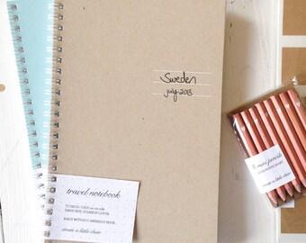 pressed travel notebook
