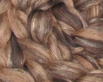 Superwash/Silk/Alpaca  Roving 4 Ounces  Caramilk