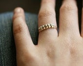 libra ring set - gold and silver set of rings