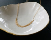 tabula rasa - layered gold necklace by elephantine