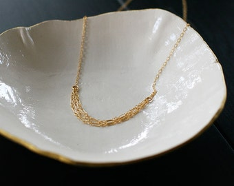 tabula rasa - layered gold necklace by elephantine