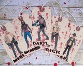The Walking Dead- Set of 5- Tags