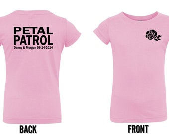 Personalized Petal Patrol shirt flower girl tshirt  tee