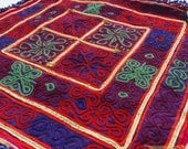Afghanistan: Vintage Embroidered Zazi Doily, Item E68