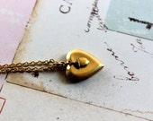 acorn. locket necklace. gold ox
