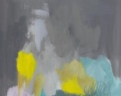 abstract painting, the meadow