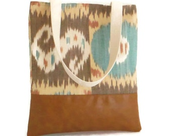 SALE - Handwoven IKAT - Tote - Market Bag - Shopper - Vegan