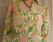 VINTAGE Hugo by Hugo Boss Ladies Blouse Print Shirt Designer