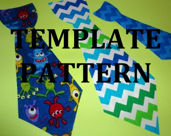 Pdf Applique TEMPLATE Pattern Only.... SLIM One Piece Neck Tie To Create Your Own Onesie Appliques....3 Sizes...New