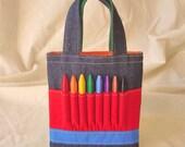 Coloring Bag Crayon Tote Crayon Tote READY to Ship ARTOTE MINI in Colorblocks