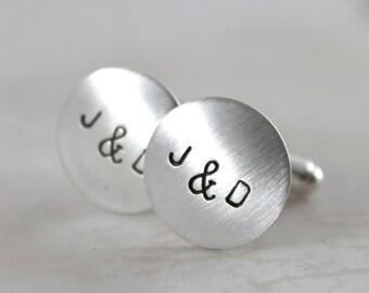 Inspirational, Sterling silver cufflinks, initial cufflinks, wedding cufflinks, personalized cuff links, mens personalized cufflinks