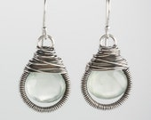 Teardrop Wrapped Dangle with Prehenite