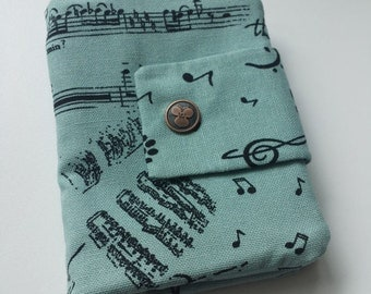 Musical cats  travel passport wallet/ holder with coin compartment