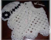 Baby Item...Best for car-seats***Baby Crocheted Poncho with Hat... 3 months to 6 months