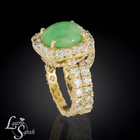 engagement ring jade engagement ring with by. Black Bedroom Furniture Sets. Home Design Ideas