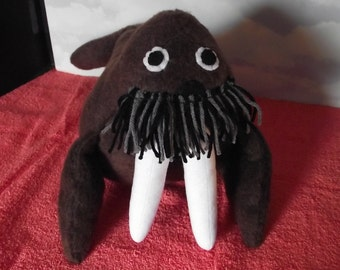 WALRUS Stuffed Animal Mammal Pattern to Sew