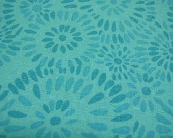 Fabric - Valori Wells - Jenaveve Linen,  Pebbles, Teal, by the yard