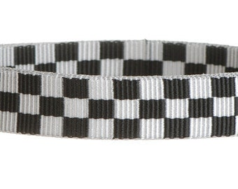 """50 Yards - 1"""" - Ribbed POLY Webbing, HEAVY Weight, Strap - Checkerboard"""