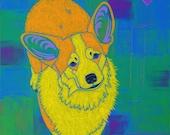 Corgi Art - Corgi Print - Corgi Pop Art - Dog Pop Art - Animal Pop Art - by dogpopart