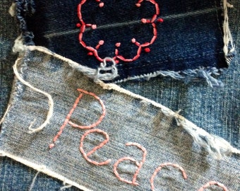Altered Couture SO Jeans Hippie Gypsy Boho
