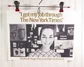 Vintage Poster Pratt Institute Prattonia 1967 - I Got My Job Through The New York Times