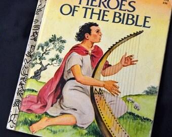 Vintage Children's Book Heroes of the Bible Little Golden Book