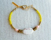 Brilliant Yellow Block Bracelet