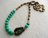 Beaded Strand Necklace- Rolling Stone