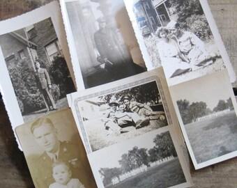 Vintage Military Photographs - Set of 7