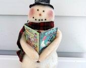 Primitive Snowman frosty snowman vintage book