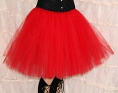 Red Romance Knee Length TuTu skirt adult All Sizes MTCoffinz