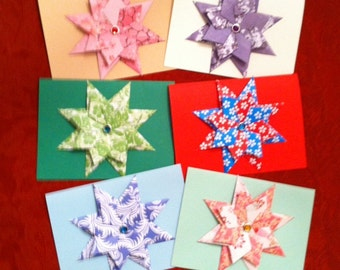 Origami Paper StarBurst Greeting Cards