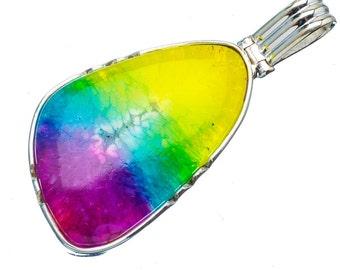 Solar Quartz Necklace - Quartz Necklace - Rainbow Solar Quartz Necklace Pendant