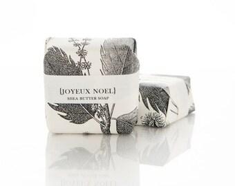 SALE Soap - Joyeux Noel - Champagne & Fir Shea Butter Soap Bar
