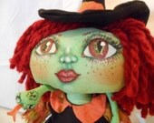 Venomous Vanessa Witch-A-Boo, a Cloth Art Doll by Liz Parent
