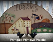 Door Crown Topper Primitive Blessings Saltbox Americana Sign