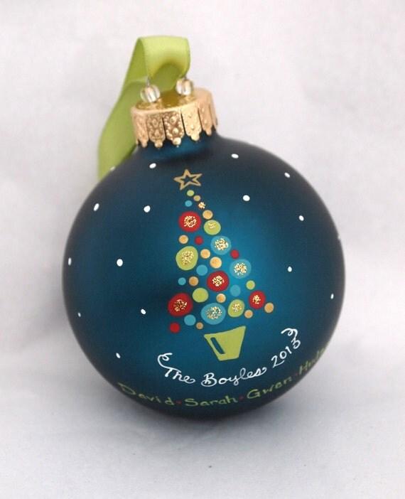 Items Similar To Festive Baubles Family Christmas Tree