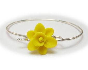 Daffodil Sterling Silver Bracelet - Daffodil Jewelry Collection
