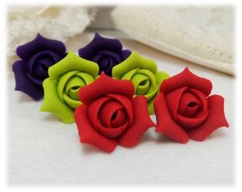 Rosebud Stud Earrings - Rosebud Jewelry