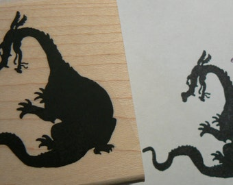 Dragon rubber stamp WM P49C