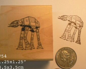 P54 Imperial walker  line art rubber stamp