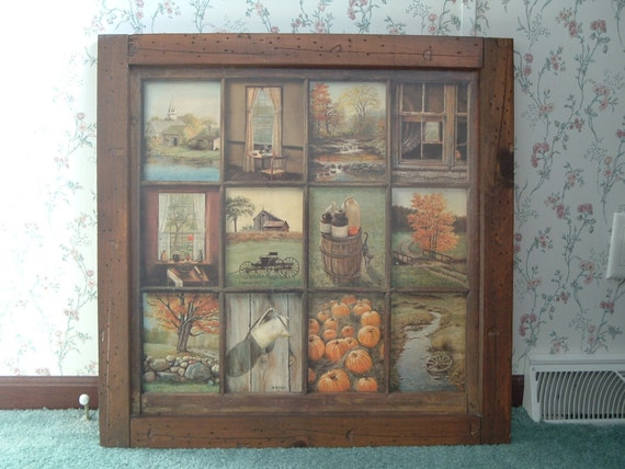 Vintage Home Interior Window Pane Picture By B Mitchell