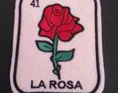 La Rosa Loteria Patch  Iron On