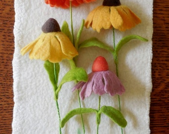 Coneflower - Felted Flower - create your own bouquet