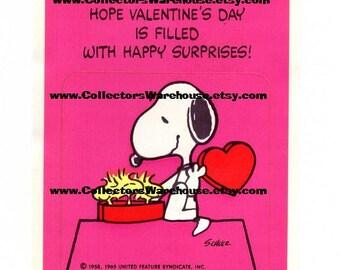Peanuts Snoopy and Woodstock Valentine's Sticker by Hallmark  Vintage